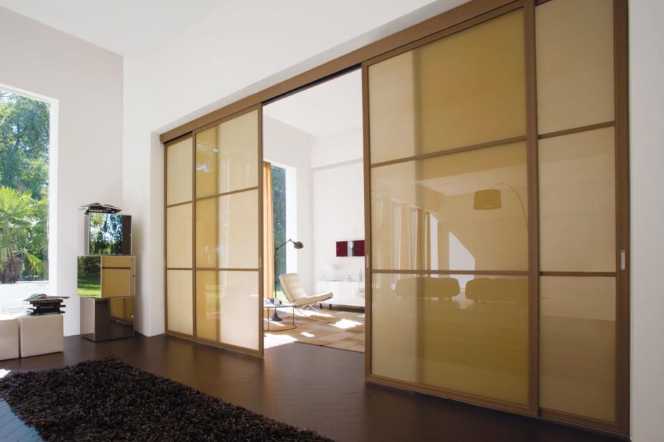 Screen double sliding doors