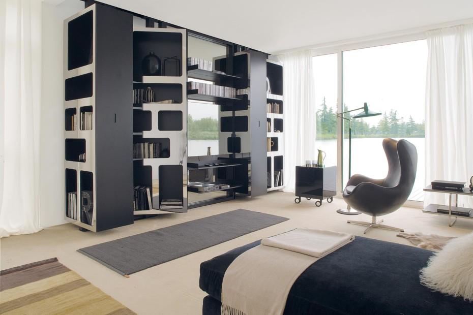 Vista pivoted shelf system