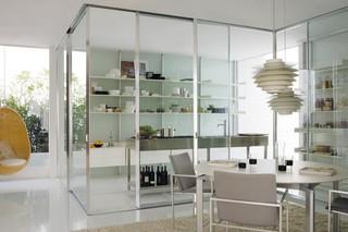 Vista Trennwandsystem mit Schiebetür (Küche)  von  Albed