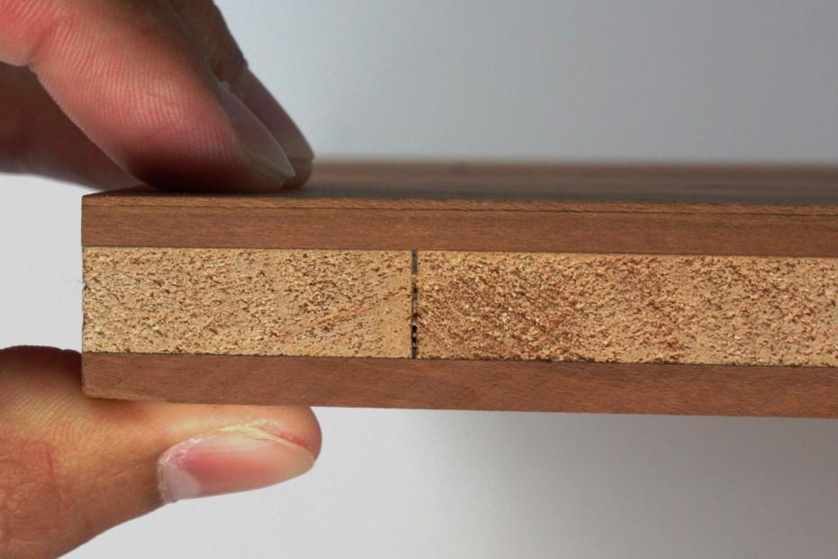 3-Schicht-Platte plum