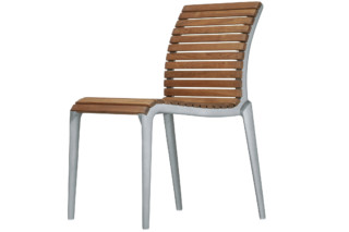 teak chair 475  by  Alias