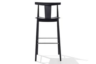 Smile bar stool with backrest  by  Andreu World
