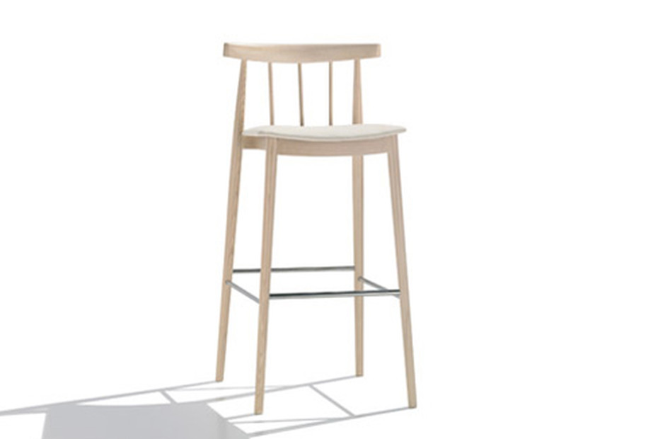 Smile bar stool with backrest