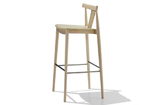 smile barhocker mit r ckenlehne von andreu world stylepark. Black Bedroom Furniture Sets. Home Design Ideas