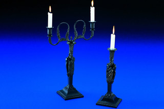 Cast-iron candlestick  by  anthologie QUARTETT