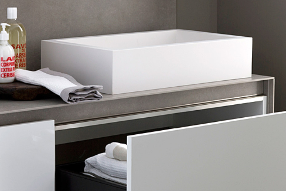 Gamma bathroom white
