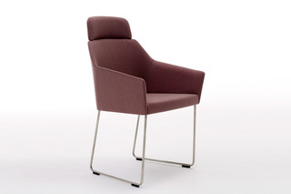 Sketch+ with high backrests and skids  by  Arco