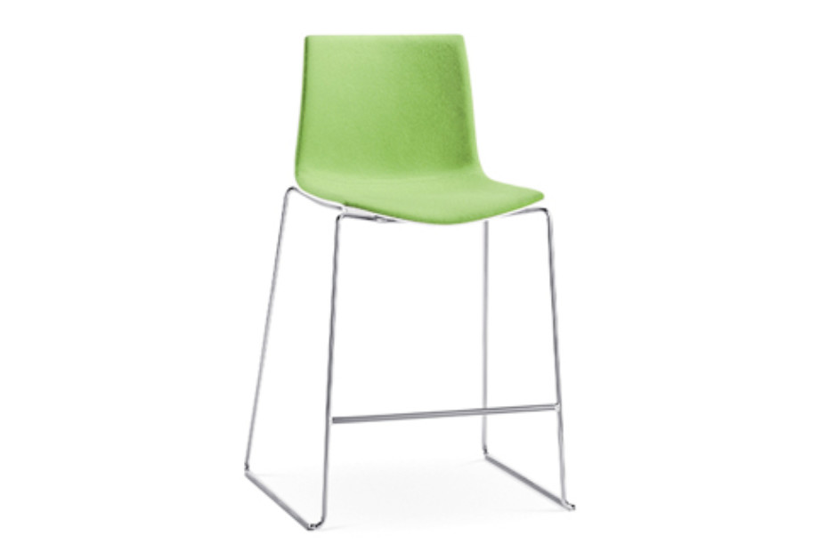 Magnificent Catifa 46 Sled Counter Stool By Arper Stylepark Caraccident5 Cool Chair Designs And Ideas Caraccident5Info