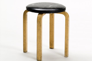 Stool E60 upholstered  by  Artek