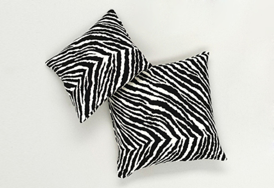 Zebra cushion cover