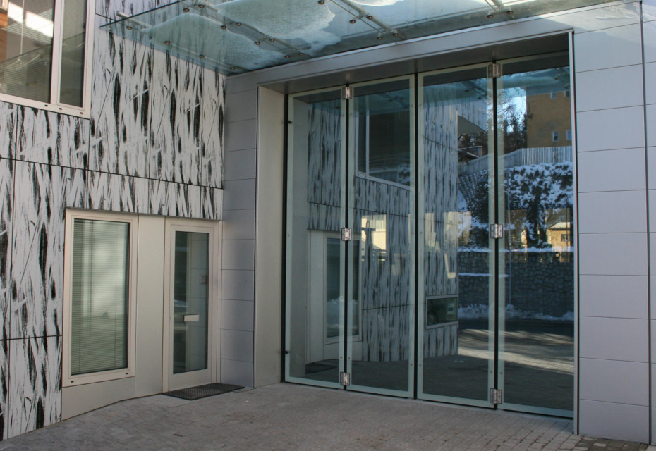 Falttür, Glaszentrum Seyr, Bruneck