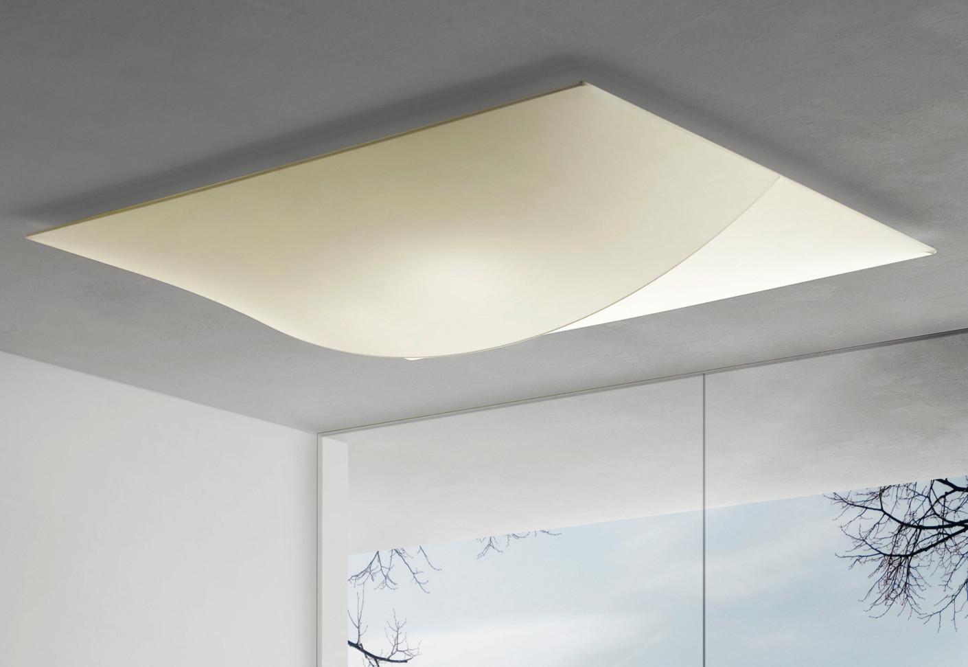 Plafoniera Tessuto Design : Nelly straight ceiling wall 140 by axolight stylepark