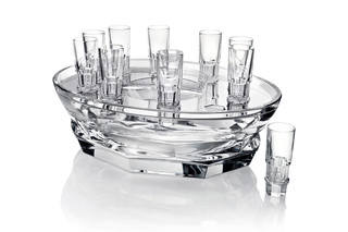 Abysse caviar set with glasses  by  Baccarat