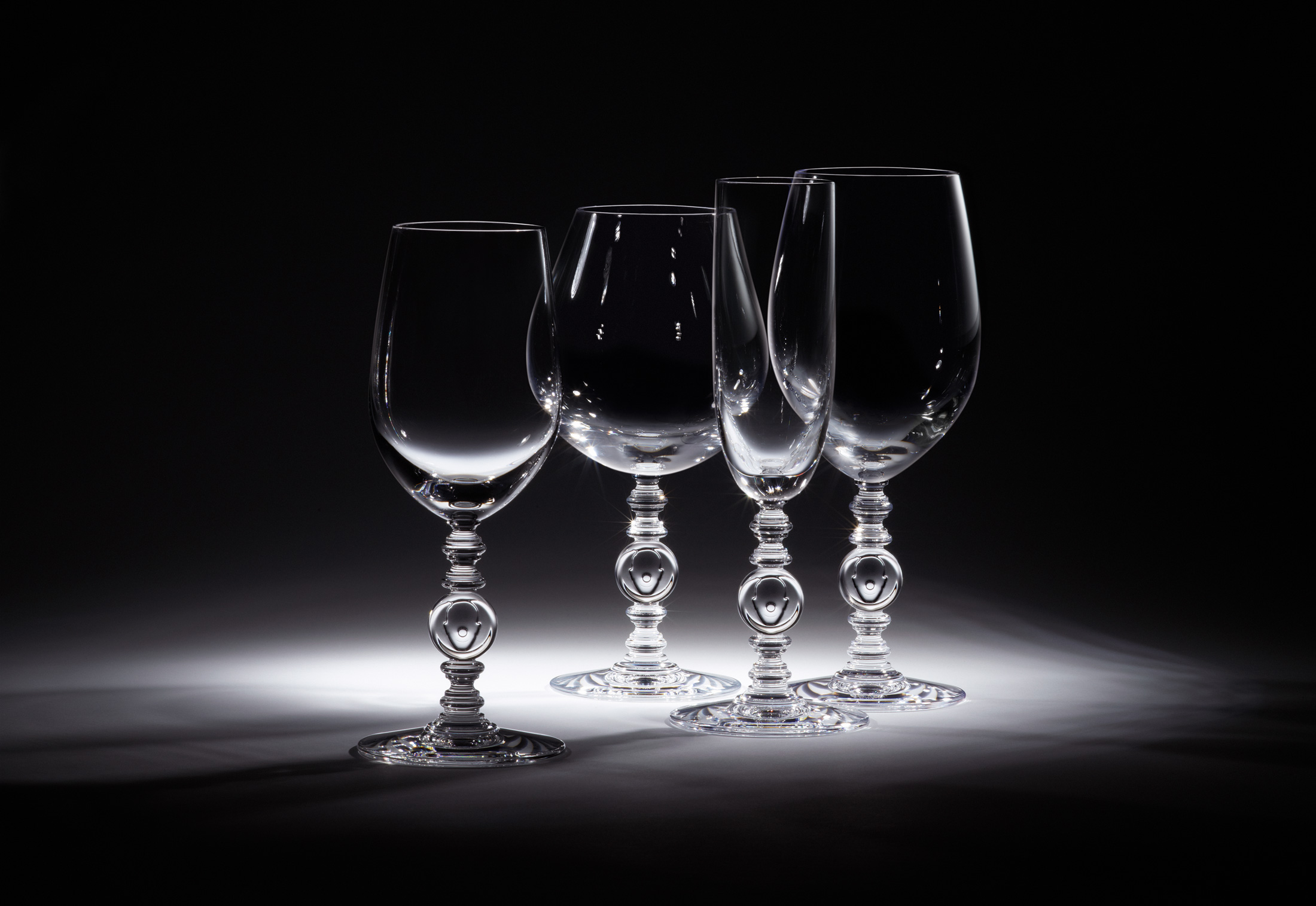 Engraved Champagne Glasses Paris