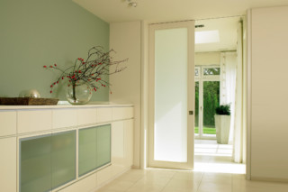 Ceiling high sliding door  by  Bartels