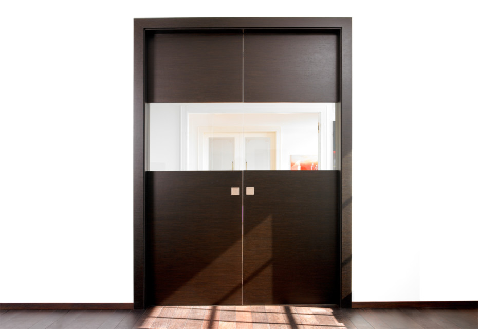Double sliding door Alpi Wenge