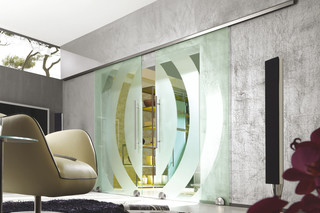 Double sliding door with MWE system Terra M  by  Bartels