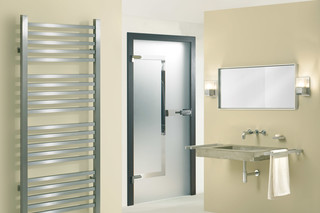 Glass door with MWE door handle Akzent  by  Bartels