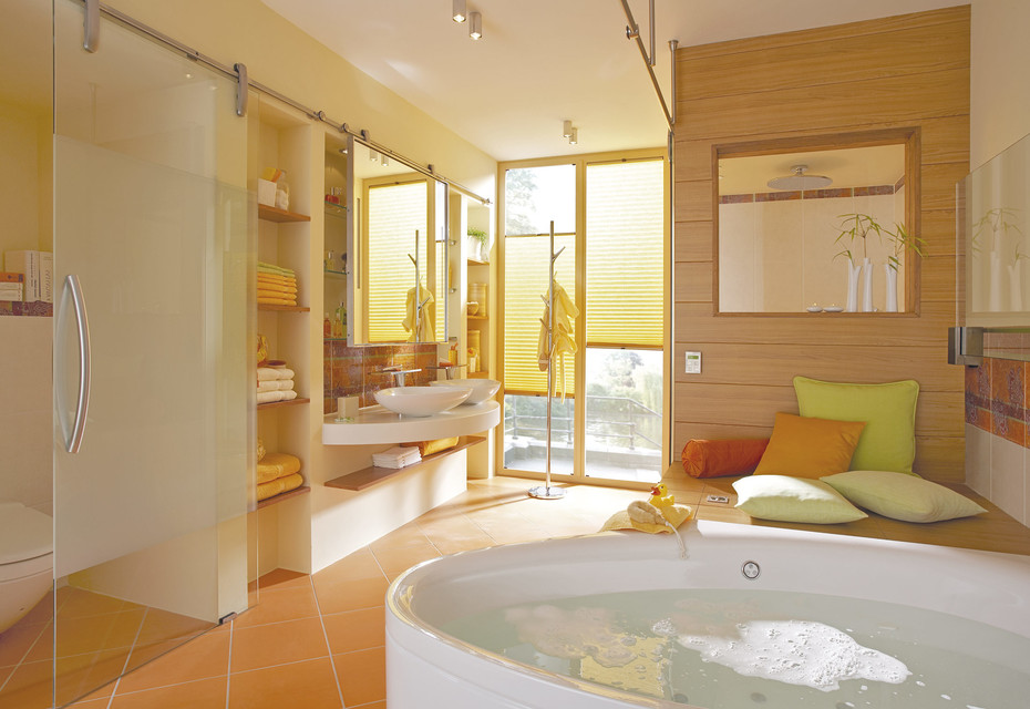 Glass sliding door with MWE system Purist
