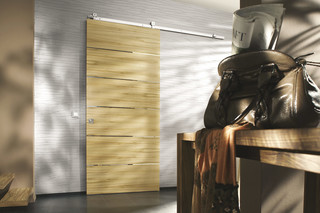 Wooden sliding door with MWE system Akzent S  by  Bartels