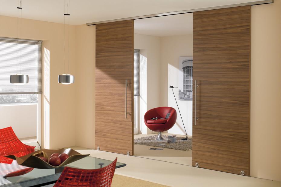 Wooden sliding door with MWE system Terra H