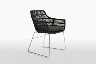CRINOLINE Chair with Armrests  by  B&B Italia