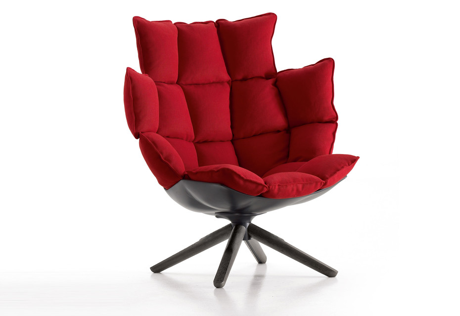 HUSK Easy Chair with x-Base