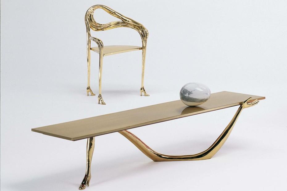 Tisch leda von bd barcelona design stylepark for Carrara marmor tisch