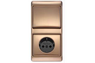 ARSYS Schalter-Steckdosen-Kombination Kupfer  von  Berker