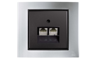 Berker - B.3 RJ45-socket  by  hager group