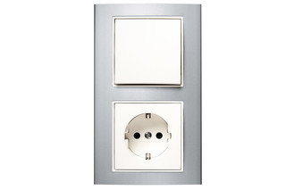 Berker - B.3 switch-socket-combination  by  hager group