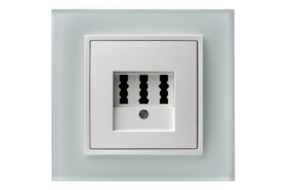 Berker - B.7 glass phone-socket  by  hager group