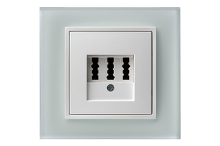 B.7 glass phone-socket  by  hager group