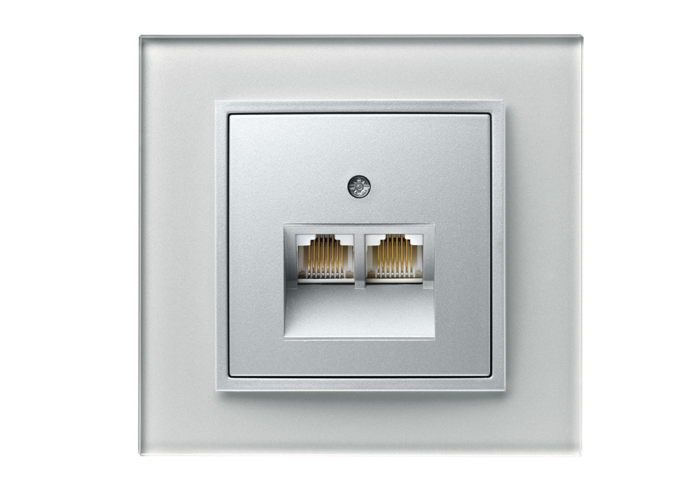 B 7 GLAS RJ45 socket by Berker