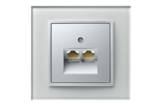 Berker - B.7 glass RJ45-socket  by  hager group