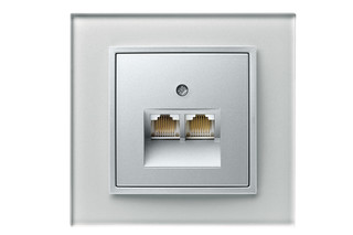 B.7 glass RJ45-socket  by  hager group