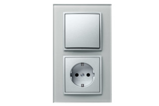 Berker - B.7 glass switch-socket-combination  by  hager group
