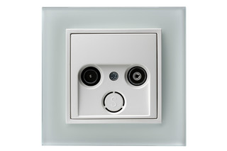 B.7 glass tv-socket  by  hager group