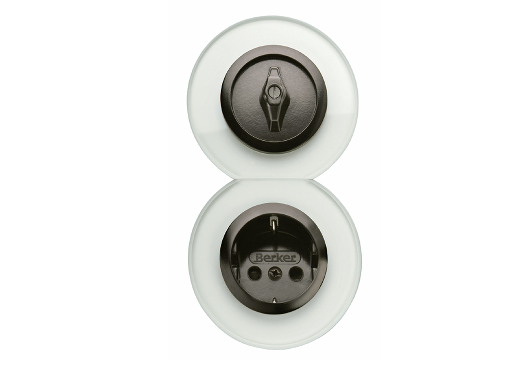 GLASSERIE Schalter-Steckdosen-Kombination von Berker | STYLEPARK