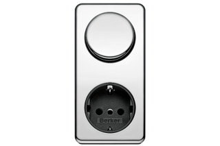 Integro classic switch-socket-combination  by  Berker