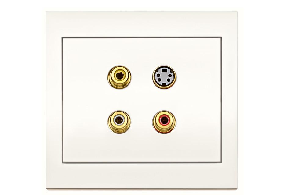 K.1 Cinch/S-Video socket