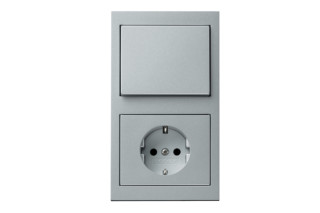 Berker - K.1 switch-socket-combination  by  hager group