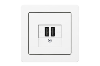 Berker - K.1 USB charging socket  by  hager group