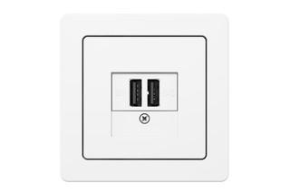 Berker - K.1 USB charging socket  by  hager group