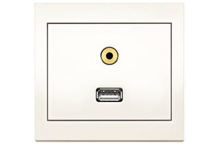 Berker - K.1 USB/Mini Audio socket  by  hager group