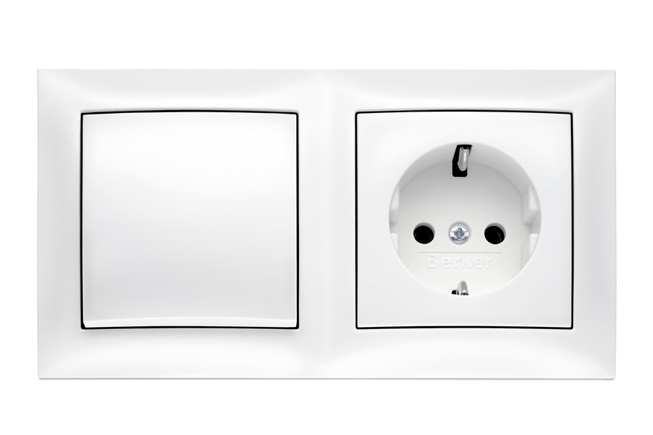 Berker - S.1 switch-socket-combination