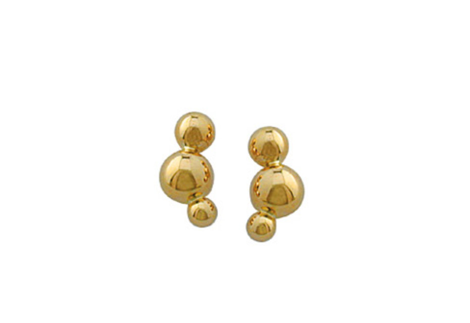 Cloud earrings gold
