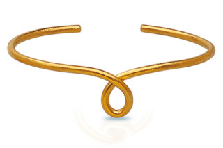 Loop pure gold bangle  by  Biegel