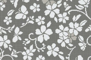 Hana Flower Grey A  von  Bisazza