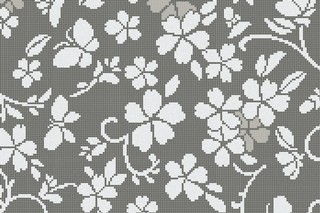 Hana Flower Grey A  by  Bisazza